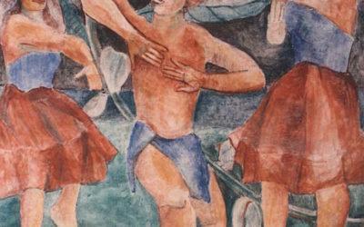 Hula Dancers Fresco