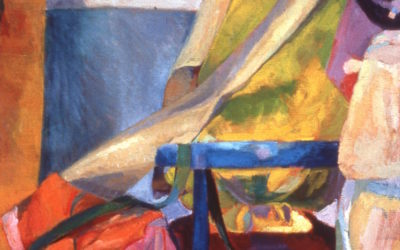 Yellow Drapery, Red Fabric 1987