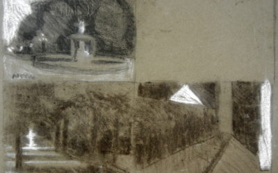 Woodruff Place Fountain Studies and North Drive at 77 Middle Drive Study