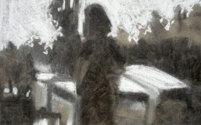 Silhouette in Dolomites