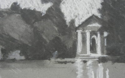 Pavilion on Lake Borghese Gardens