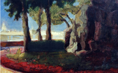 View of Venice from I Giardini