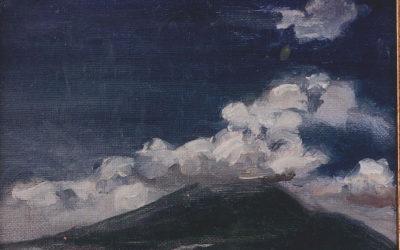 Mist above Mt. Vesuvius