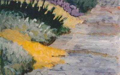 Cascading Yellow Grass