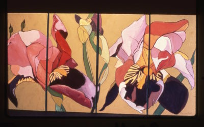 Japanese Red Iris